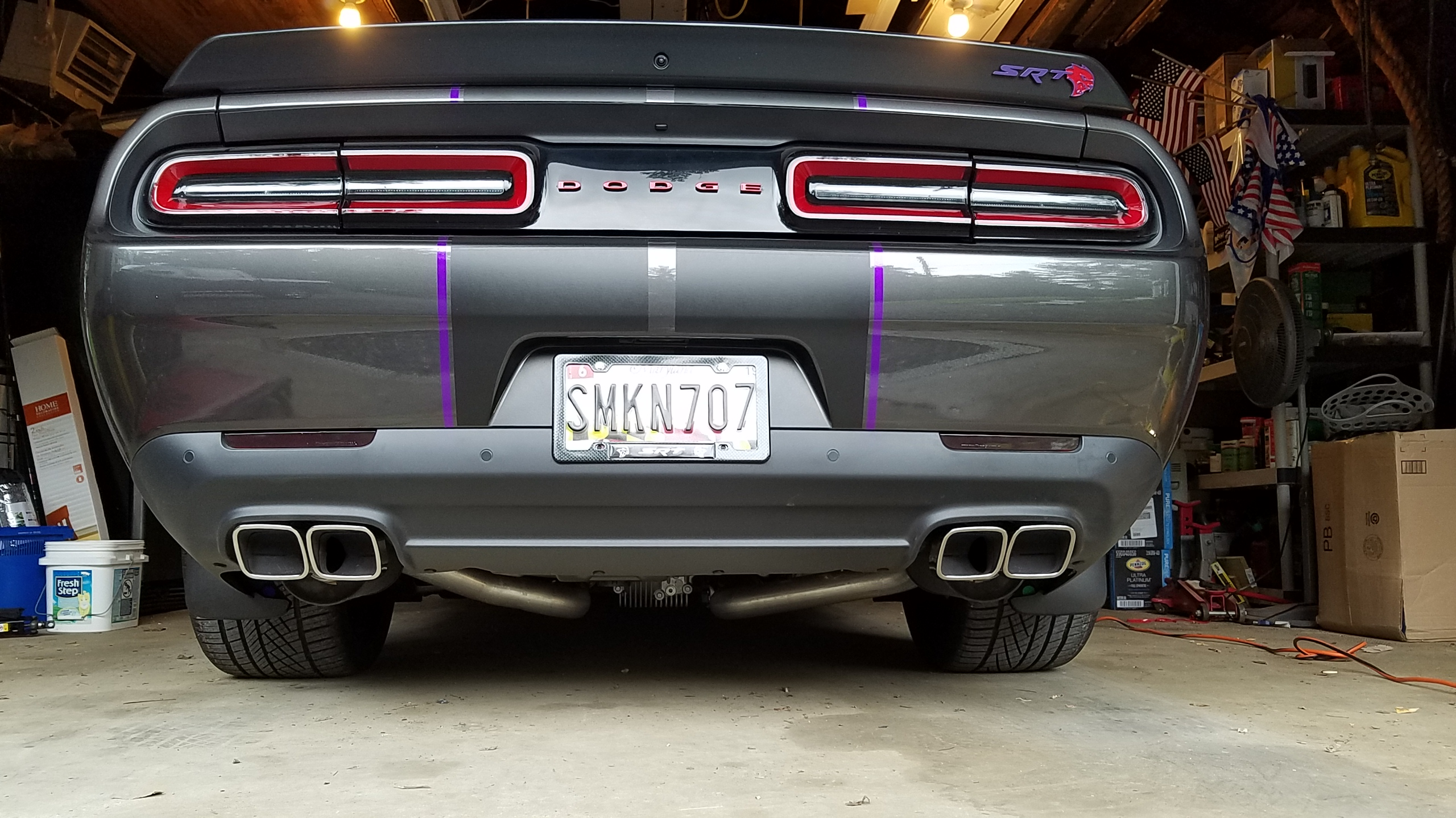 tail pipe different heights dodge