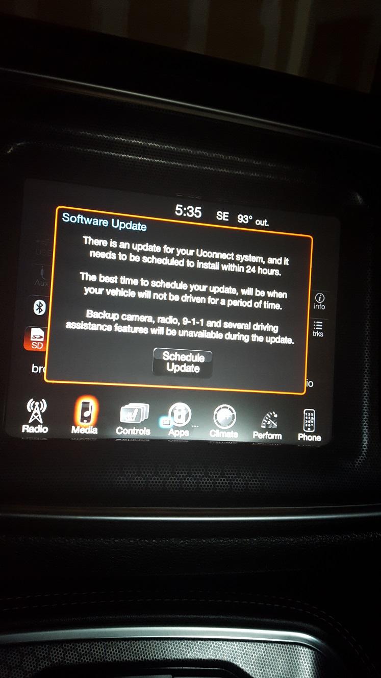 software update | Dodge Challenger Forum