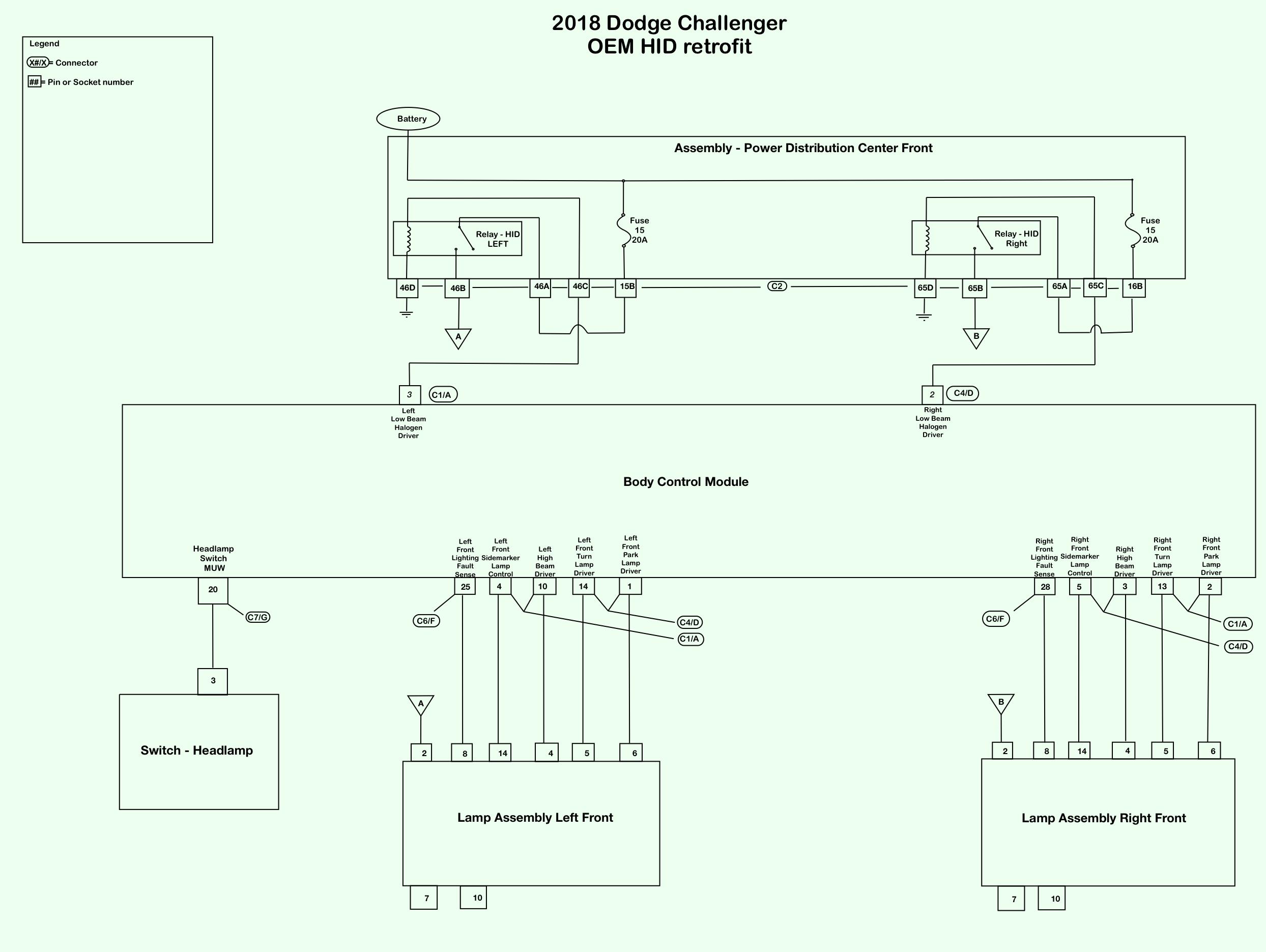 [NRIO_4796]   OEM HID Retrofit | Dodge Challenger Forum | Challenger Side Mirror Wiring Diagram |  | Dodge Challenger Forum