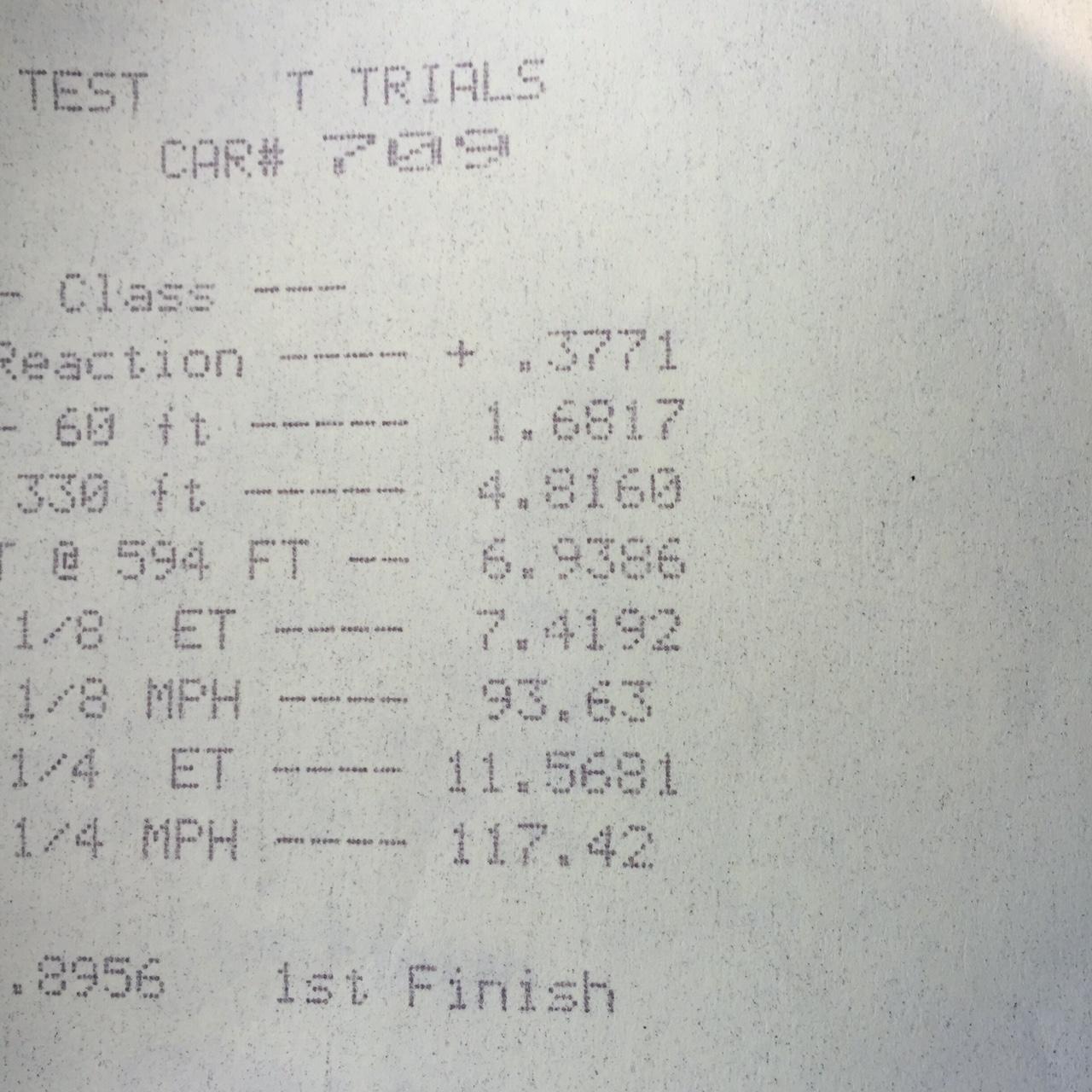 11.56 at 117.42mph