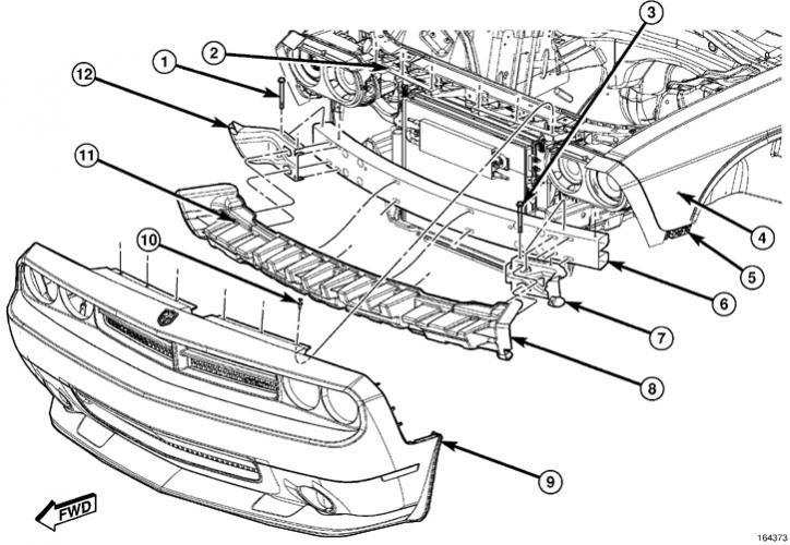 2012 Dodge Challenger Front Bumper Diagram | Dodge Specs Top