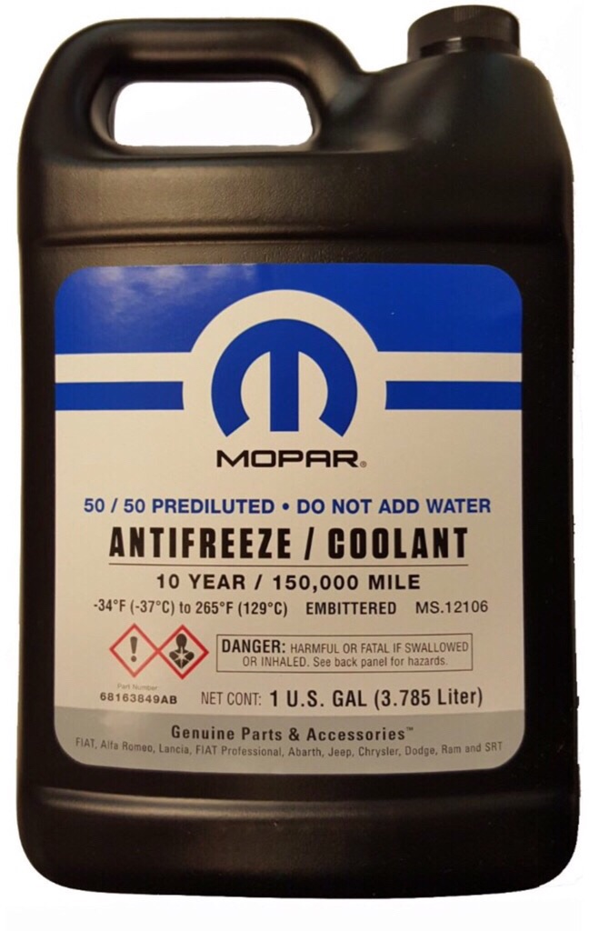 Which Antifreeze For 2013 Dodge Challenger Forum