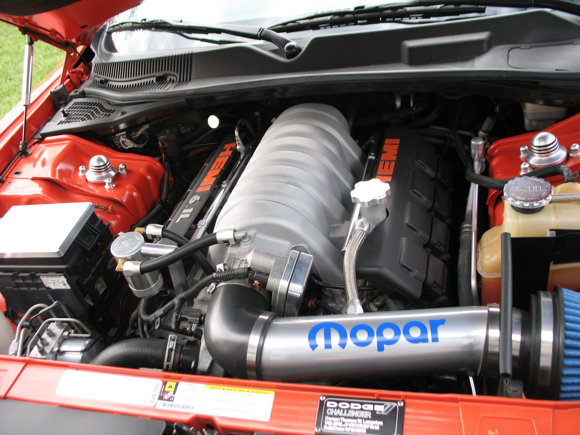 Showcase cover image for 6.1 Hemi with Billet engine bay mods.