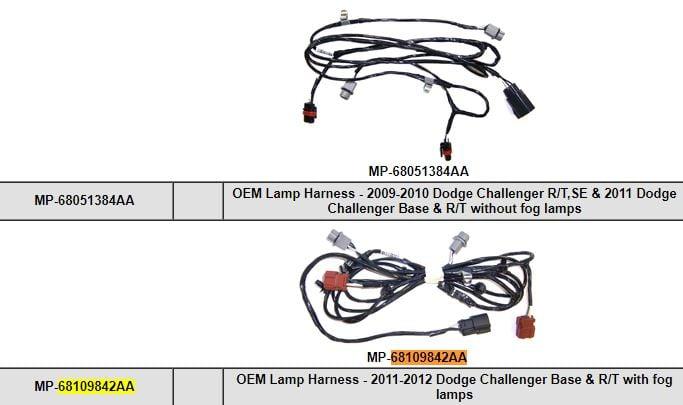 Dodge Challenger Wiring Harnes 2012