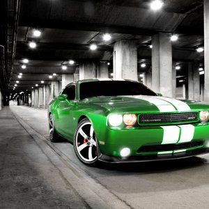 2011 SRT8 green with envy challenger