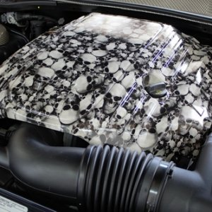 Hydrographic Skull Engine Cover