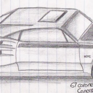 67 coronet concept further detailed