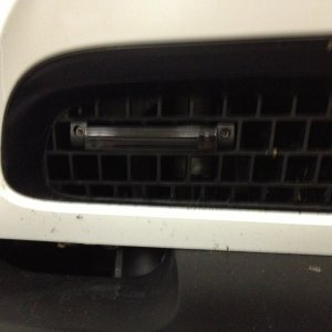 Left laser shifter lower grill close-up