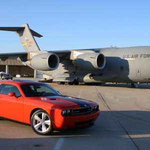 My Challenger with a C-17